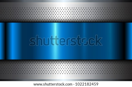 metallic background silver blue