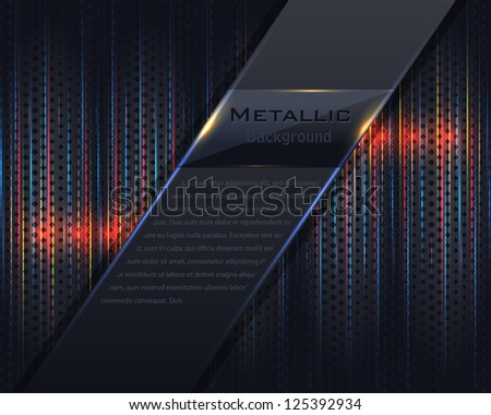 Metallic Background Vector Design