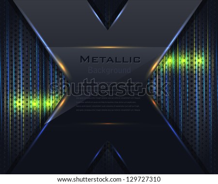 Metallic Background Vector Design