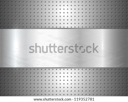 metallic background with space