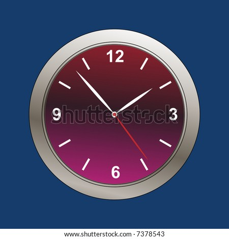 metallic beveled clock face