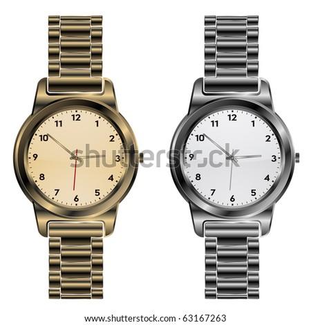 metallic clock