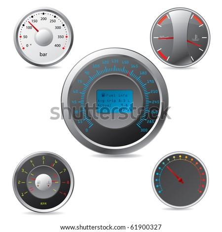 Metallic gauges set