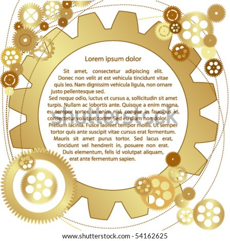 metallic gears vector