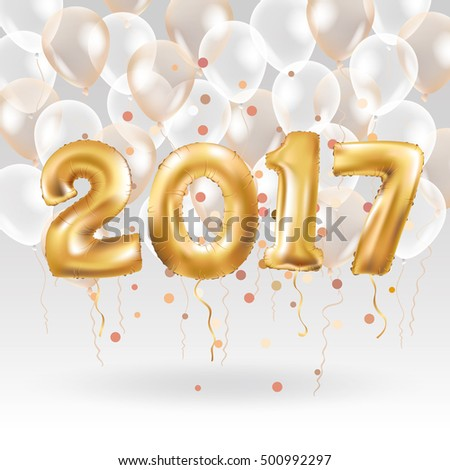 Metallic Gold Letter Balloons, 2017 Happy new year, Gold Number Balloon, Alphabet Letter Balloons, Number Balloon, Air Filled ball