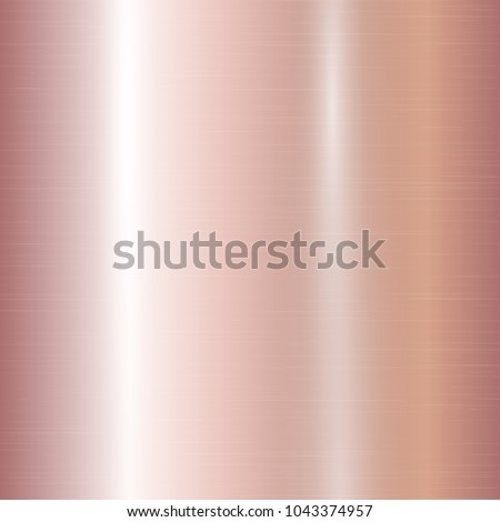 Metallic gradient with a pink gold texture with stripes and bright highlights. Vector illustration