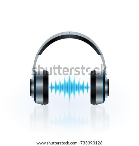 metallic headphones design