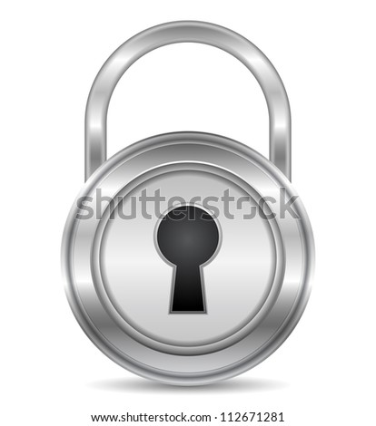 Metallic lock, vector eps10 illustration