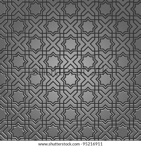 metallic pattern on islamic
