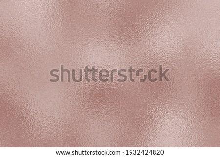 Metallic rose gold foil texture. Background metal effect. Glitter pink design. Pattern rose gold. Roses golden beauty sparkle surface. Metal copper texture. Metallic glam backdrop for prints. Vector