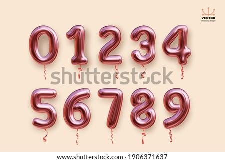 metallic rose  pink number