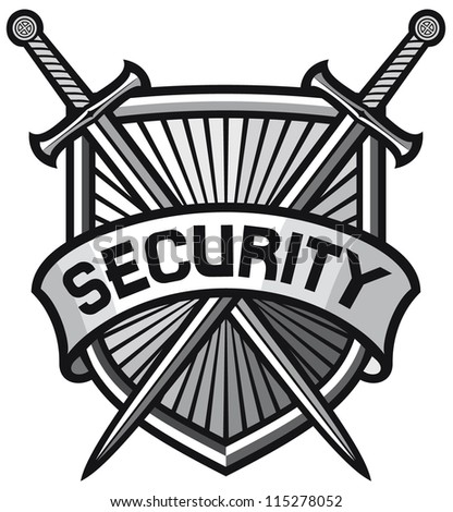 metallic security shield