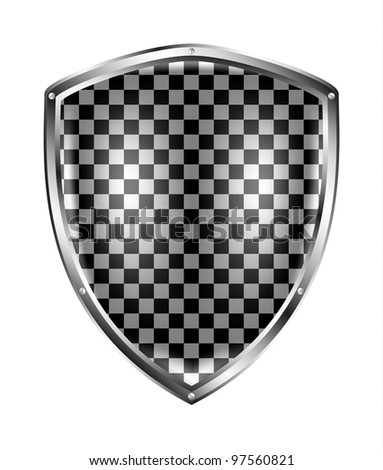Metallic shield in bla...