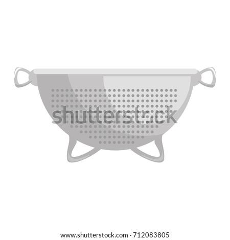 metallic strainer isolated icon