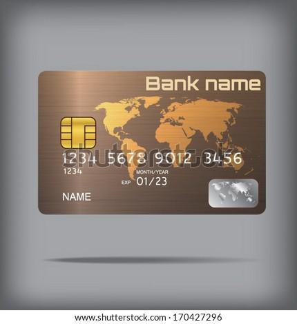 Metallic style credit card or smart card template design