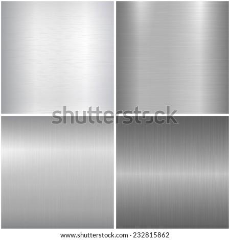 Metallic textures. Vector backgrounds eps 10