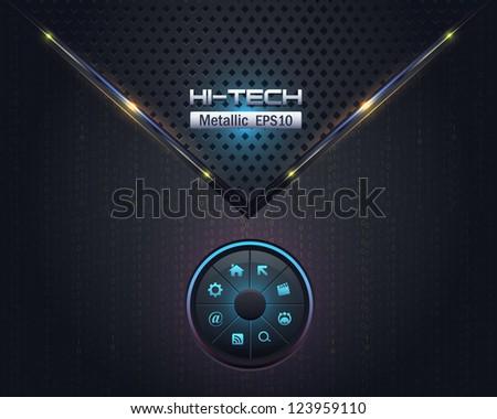 Metallic Vector Background Switchers UI Elements Design