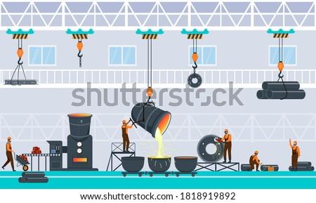 metallurgy industry concept