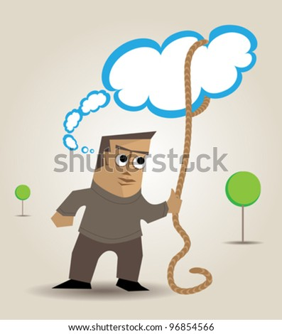 Metaphor about the author who retains ownership of their ideas or works - stock vector