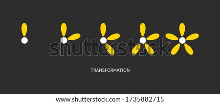 Metaphor of development, growth, transformation, change. Coaching icon. Logo transform ストックフォト ©