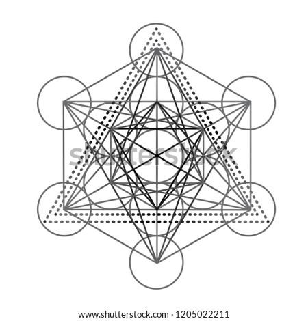 metatrons cube  flower of life