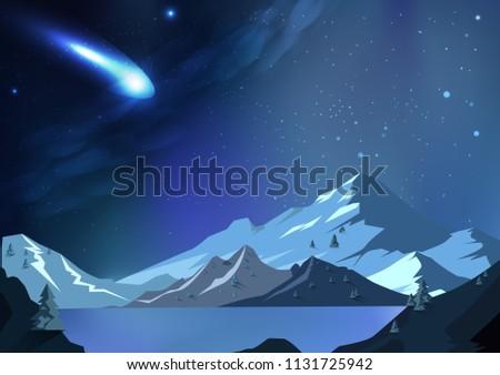 meteor falls to planet  fantasy