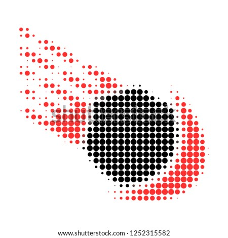 meteor halftone dotted icon