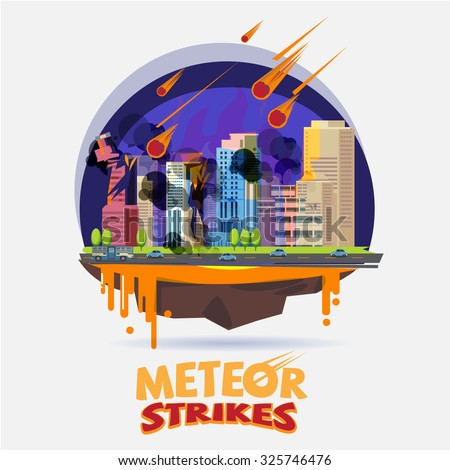 meteor impact the city diaster