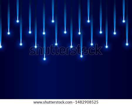 Meteor rain with falling glowing comets on transparent background, light effect, neon lights, aqua colorwith falling glowing comets on transparent background, light effect, neon lights, aqua color