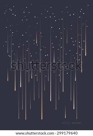meteor shower minimal design