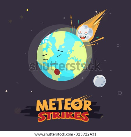 meteor strike the earth end of