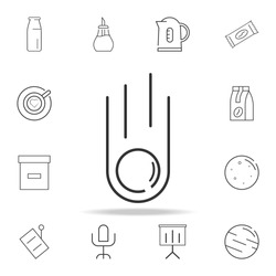 meteorite line icon. Detailed set of web icons and signs. Premium graphic design. One of the collection icons for websites, web design, mobile app on white background