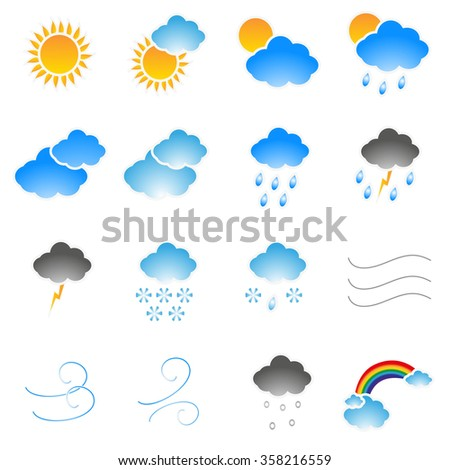Meteorology Icons set.
