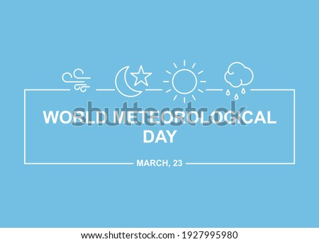 Meteorology simple illustration. Easy to edit with vector file. Can use for your creative content. Especially about world meteorological day campaign in this march. Foto stock ©