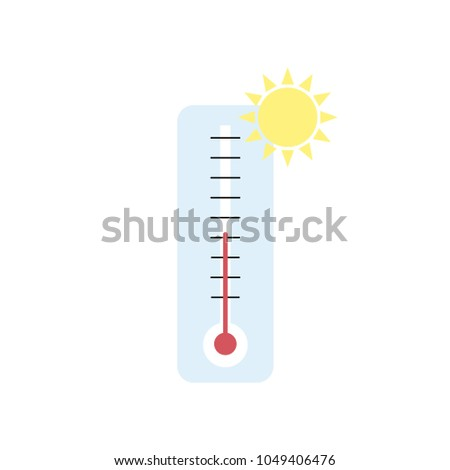 Meteorology thermometers isolated. Vector illustration. Celsius and fahrenheit