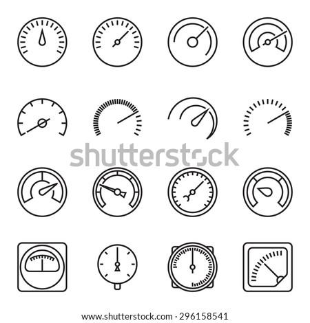 meter icons symbols of