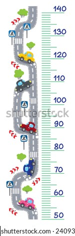 meter wall or height meter of