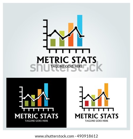 metric stats logo design