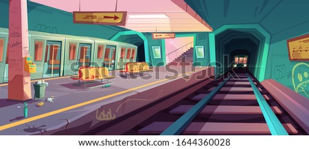 metro station  arriving train