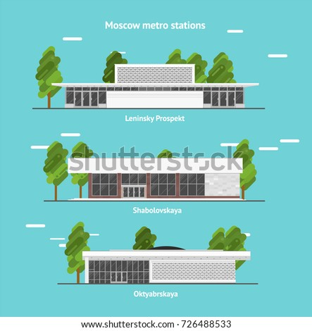 Metro stations in Moscow