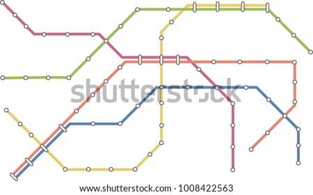 Metro subway map