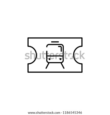 Metro ticket icon. Element of transportation icon for mobile concept and web apps. Thin line Metro ticket icon can be used for web and mobile