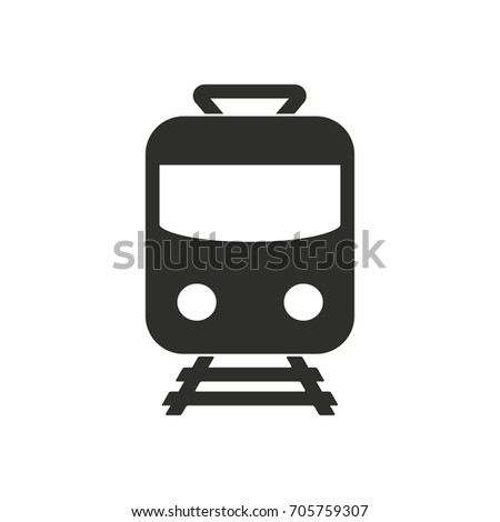 Metro vector icon. Black illustration isolated on white background for graphic and web design.