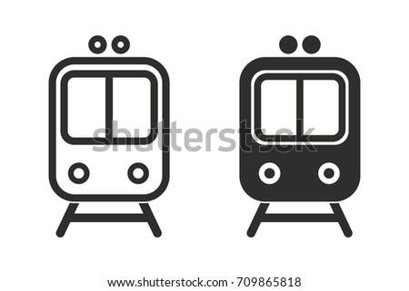 metro vector icon black