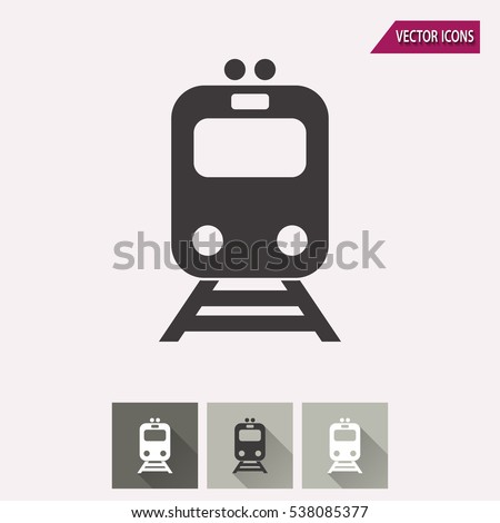 Metro vector icon. Illustration isolated for graphic and web design.