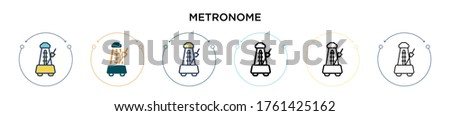 metronome icon in filled  thin