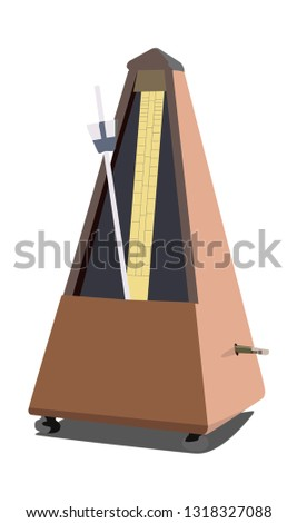 metronome vector illustration