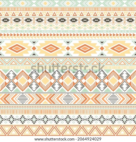 Mexican american indian pattern tribal ethnic motifs geometric vector background. Beautiful native american tribal motifs textile print ethnic traditional design. Mayan clothes pattern design.
