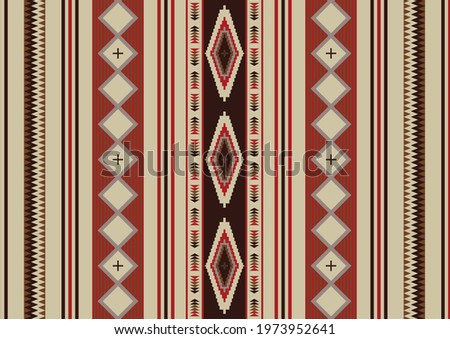 Mexican blanket seamless pattern. Native Indian ornament. Navajo tribal seamless pattern. Serape design blanket. Ethnic South Western decor style.