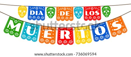 Shutterstock Mexican bunting for Day of the Dead (Dia de los Muertos)